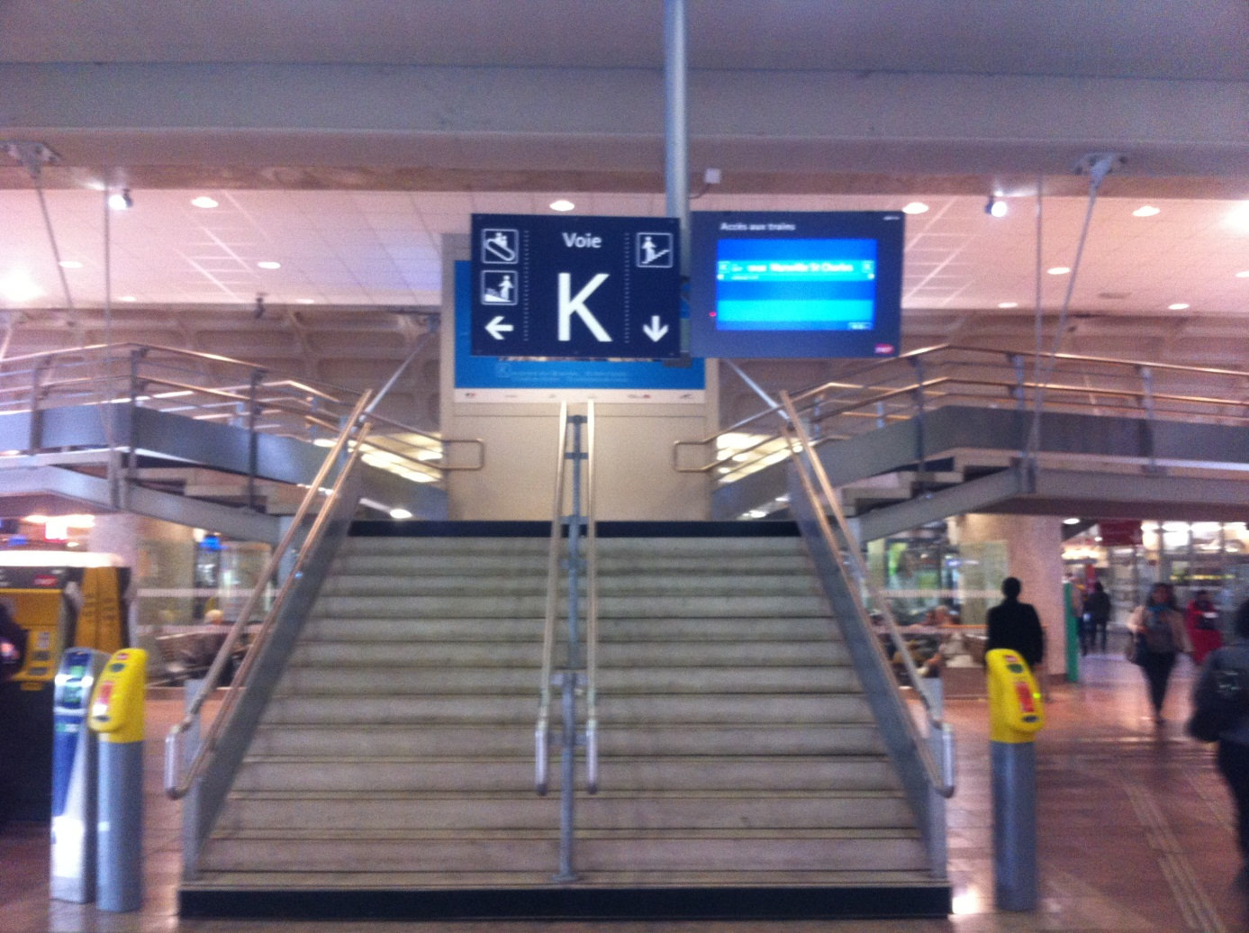 Gare de Lyon Part-Dieu (69) Mise à quai voie K