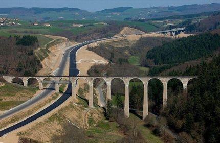 Viaduc Pont Marteau (Loire) franchissement A89 Travaux de réparation